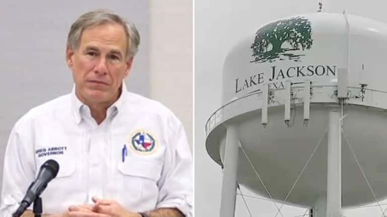 Gov. Abbott visits Lake Jackson after brain-eating amoeba found in water supply