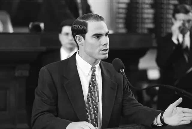 Dennis Bonnen in his first session as state representative in 1997. Bonnen on the floor of the House. Courtesy the Texas House of Representatives