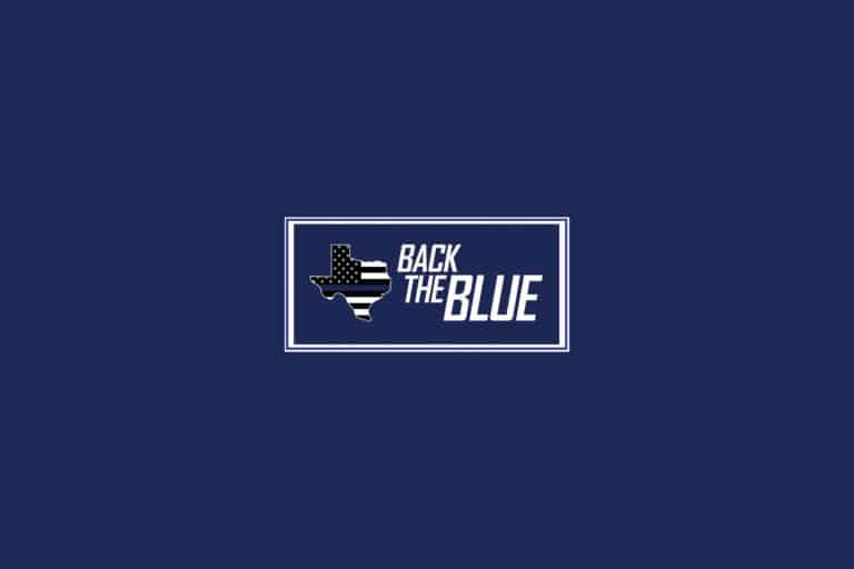 Back The Blue In Texas